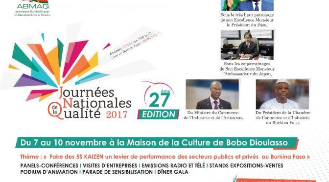 27ème édition des JNQ: Faire des 5s kaizen un levier de performance des secteurs publics et prives au Burkina Faso