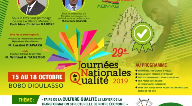 Journées Nationales de la Qualité 2019