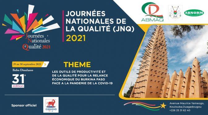 JNQ 2021 du 29 au 30 Septembre à Bobo Dioulasso
